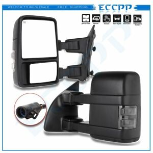 For 99 07 Ford F250 F550 Superduty Towing Mirrors Pair Power Heated Turn Signal