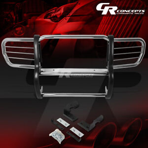 Chrome Stainless Front Bumper Grille Grill Guard Kit For 06 10 Jeep Commander Xk