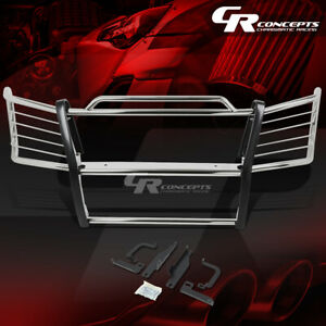 Chrome Stainless Bumper Grille Grill Guard For 03 07 Chevy Silverado 1500 2500