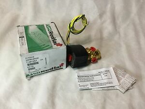 Asco Redhat Brass Solenoid Valve Model Efht8320g196 240 60 220 50 New Surplus
