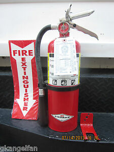Quality 5lb Abc Fire Extinguisher W 2021 Certification Tag Wall Bracket Sign