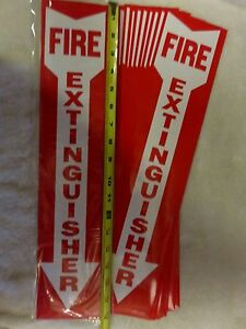 lot Of 20 Self adhesive 4 X 18 Vinyl fire Extinguisher Arrow Sign s new