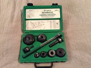 Greenlee 7238sb Slug Buster Knockout Punch Kit Wrench Driver 1 2 2 Conduit