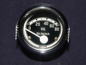 Nos Vdo Oil Pressure Gauge Kit Barndoor Gt 750 850 6v 12v Split Bus Bmw R69