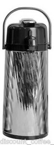 Newco 120795 Kk Thermal Airpot Glass Lined 2 2l Silver Finish
