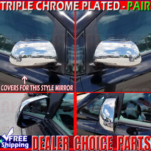 For 2012 2013 2014 2015 Toyota Tacoma Chrome Mirror Covers W out Turn Signal