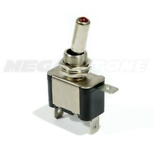 Heavy Duty 20a Toggle Switch Spst On off W red Led Car truck boat Usa Seller
