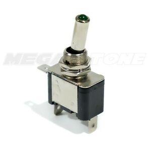 Heavy Duty 20a Toggle Switch Spst On off W green Led Car truck boat Usa Seller