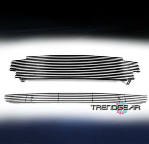 For 2001 2004 Toyota Tacoma Upper bumper Billet Grille Grill Insert 2pcs Combo