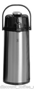 Newco 120818 Koffee By The Kup Airpot 2 2l Stainless Finish Lever Style