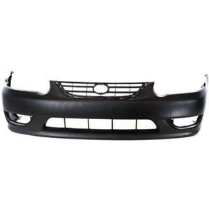 New Front Bumper Cover For Toyota Corolla To1000217 2001 To 2002
