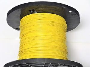 16 Gauge Wire Yellow 500 On Spool Primary Awg Stranded Copper Power Ground Vw 1
