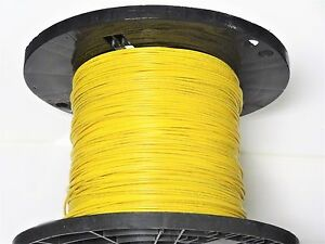 16 Gauge Wire Yellow 1000 On Spool Primary Awg Stranded Copper Power Ground Vw 1