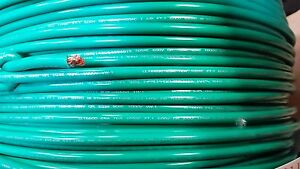 Mtw 8 Gauge Awg Green 19 Strands Copper Ground Primary Wire 125 Spool Usa Vw 1