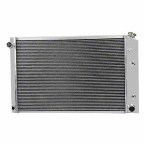 3row Aluminum Radiator For Chevy Truck 21 X 33 1981 1991 82 83 85 86 87 88 89