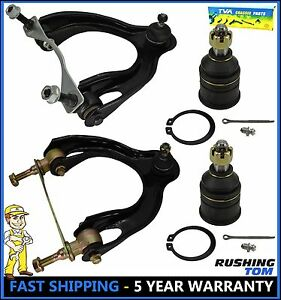 4 Pc Kit Front Upper Control Arm And Lower Ball Joint Honda Civic Acura Integra