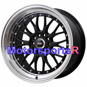 Xxr 521 18 Black Machine Deep Lip Rims Wheels Staggered Stance Lexus Is250 Sc400