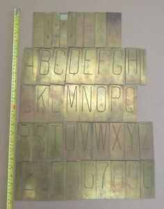 3 Letter On 4 1 2 Brass Engraving Letters Numbers For Pantograph Engraver