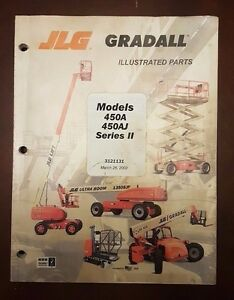 Jlg Gradall Model 450a 450aj Series Ii Illustrated Parts