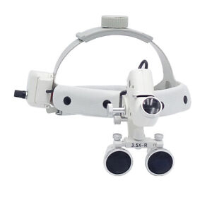 3 5x r 5w Dental Led Surgical Medical Headband Loupe With Light Dy 106 White