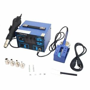2 In 1 Soldering Rework Station Hot Air Iron 992d 4 Nozzles New Solder New
