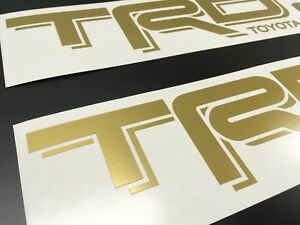 2 Trd Off Road Decals Stickers Gold Die Cut Vinyl Toyota Tacoma Tundra 4runner