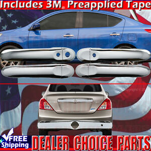 For 2012 2019 Nissan Versa Chrome Door Handle Covers W Smart Key Tailgate