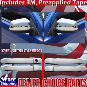 2008 2014 Mitsubishi Lancer Chrome Door Handle Covers W O Smt Key Mirror Covers