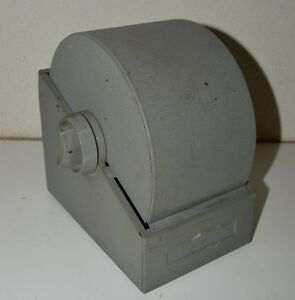 Large Mid Century Bates Rotary File Industrial Phone Adress Rolodex Box Rare