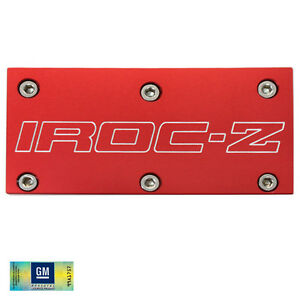 85 90 Camaro Iroc Z Tpi Red Billet Aluminum Throttle Body Plate Cover W Screws