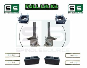6 4 Inch Spindle Block Lift Kit Brakeline Fits 2007 2018 Toyota Tundra 2wd