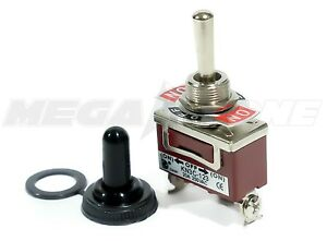 Toggle Switch Heavy Duty 20a 125v Momentary Spdt on off on W waterproof Boot