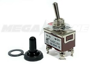 Toggle Switch Heavy Duty 20a 125v Dpst On off W waterproof Boot Usa Seller