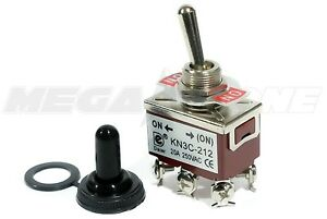 Toggle Switch Heavy Duty 20a 125v Momentary Dpdt On on W waterproof Boot