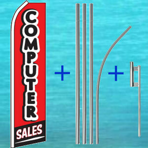 Computer Sales Flutter Flag Pole Mount Kit Tall Feather Swooper Banner Sign