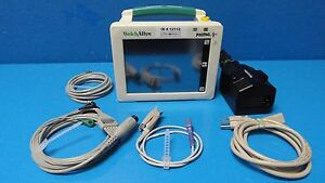 Welch Allyn Propaq Cs 244 Colored Monitor W Leads spo2 Ekg Nbp T Ibp 12112