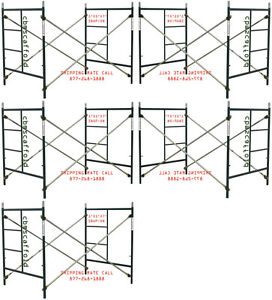 Cbm Scaffold Five Set Of New Heavy Duty Masonry Scaffold Frame 5 X 5 X 7 Set