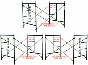 Cbm Scaffold 3 Sets Scaffolding Masonry Frame 5 X 5 x 7 Snap on W Cross Brace
