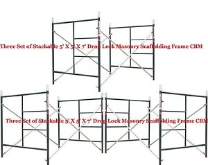3 Set Of New Flip Lock 5 X 5 1 X 7 Masonry Scaffolding Box Frame Cbm Scaffold