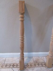 Turned Wood Post 48 X 4 Porch Post Red Oak Used 1 Piece