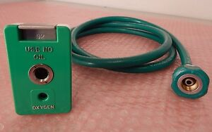 Quick Connect Coupler Oxygen O2 Chemetron Female With Hose