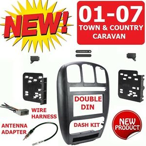 01 07 Caravan Town Country Car Radio Stereo Installation Double Din Dash Kit