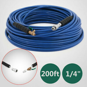 200ft Carpet Cleaning Solution Hose 1 4 Wand Cuff 3000 Psi Blue Factory Price