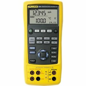 Fluke 724 Temperature Calibrator Measures Rtds Thermocouples Ohms