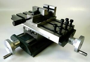Low Profile Compound X y Position Cross Slide Table 2 Quick Release Vise New