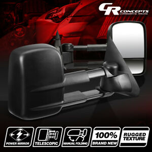 Dual Arm Powered Rear View Towing Side Mirror For 97 03 F150 99 F250 Lightduty