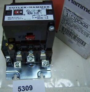Cutler Hammer Magnetic Contactor C10cn3a Size 1 120v Coil W Interlock