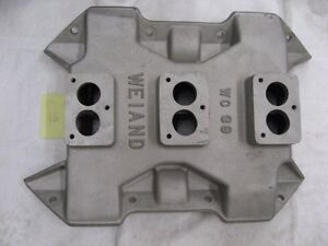 Weiand Wc39 3x2 Barrel For Chrysler 383 Stromberg Carbs Rare