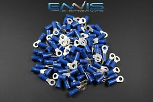14 16 Gauge Vinyl Ring 8 Connector 500 Pk Blue Crimp Terminal Awg Ga Car Suv