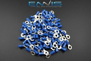 14 16 Gauge Vinyl Ring 10 Connector 500 Pk Blue Crimp Terminal Awg Ga Car Suv